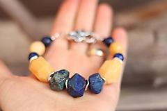 Náramky - Bohemian náramok lapis lazuli, jadeit - 11457487_