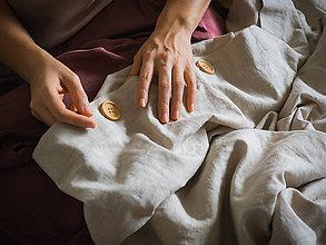 Úžitkový textil - Ľanové posteľné obliečky DVOJPAPLÓN - 11459566_