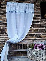 Úžitkový textil - Ľanový záves Dream of Roses - 11459894_