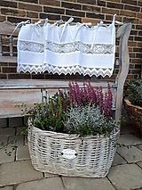Úžitkový textil - Ľanová záclonka Hope - 11459920_