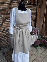 Iné oblečenie - Vidiecka ľanová kuchynská zástera - natur - 11459957_