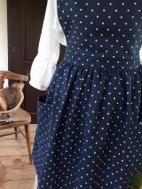 Iné oblečenie - Vidiecka ľanová kuchynská zástera - 11459974_