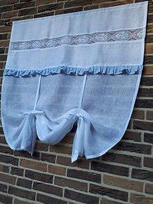 Úžitkový textil - Ľanová záclonka Dream of Roses - 11459876_