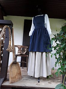 Iné oblečenie - Vidiecka ľanová kuchynská zástera - 11459975_