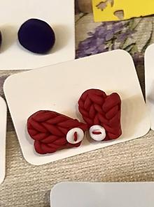 Náušnice - štrikované rukavičky (napichovačky) - 11457505_