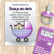 Papiernictvo - Škola je ako dieťa - zápisník - 11458883_