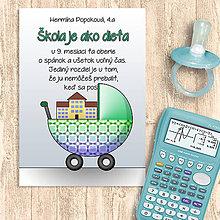 Papiernictvo - Škola je ako dieťa - zápisník (abstraktný kočík 2) - 11458899_