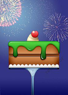 Grafika - Veselá torta - grafika - 11458923_
