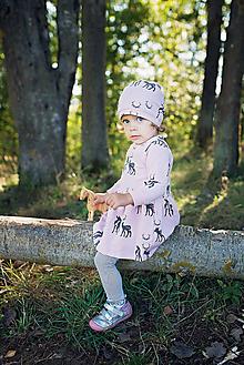 Detské oblečenie - Šaty Srnka ružová - 11461671_