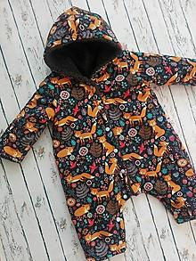 Detské oblečenie - Zimný overal Líška - 11461705_