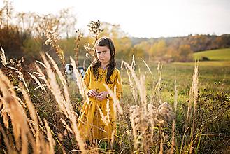 Detské oblečenie - Šaty Srnka mango - 11461735_