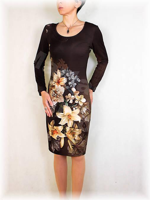 Šaty lilie vz.506 i krátký rukáv