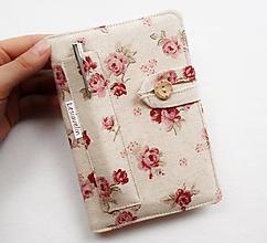 Papiernictvo - Zápisník A6 - Ružičky na režnej - 11461682_