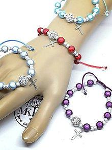 Náramky - Žiarivý náramok ruženček - 11462968_