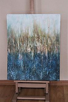 Obrazy - Pri jazere - abstrakcia - 11461771_