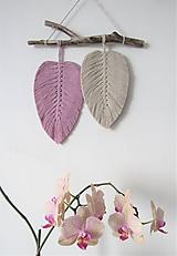 Dekorácie - Makramé závesná dekorácia NATURE (Ružová/perlová) - 11461064_