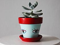 Nádoby - Terakotový kvetináč - Oko okaté - 11461941_