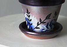 Nádoby - Terakotový kvetináč - Trblietko - 11462139_