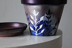 Nádoby - Terakotový kvetináč - Trblietko - 11462140_