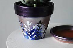 Nádoby - Terakotový kvetináč - Trblietko - 11462141_
