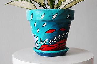 Nádoby - Terakotový kvetináč - Bájna rusovláska - 11461831_