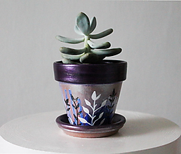 Nádoby - Terakotový kvetináč - Trblietko - 11462151_