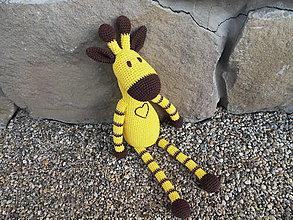 Hračky - Háčkovaná žirafka - žltá - veľká 45cm - 11462871_