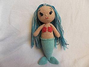Hračky - Malá morská víla - háčkovaná - 11462913_