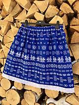 Sukne - Folklórna sukňa - Čičmany v modrom - 11462940_