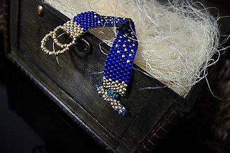 Náramky - Modrý náramok - 11462862_