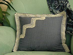 Úžitkový textil - Čipkovaný vankúš - 11462717_