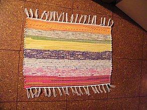 Úžitkový textil - Tkaný koberec malý pestrofarebný - 11462330_