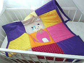 Úžitkový textil - Prehoz  s macickou  90x200/aj ako letna prikryvka - 11465586_