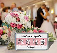 Darčeky pre svadobčanov - Svadobná magnetka - 11463400_