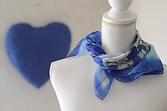 Šatky - DAKL - hodvábna ručne maľovaná  šatka. - 11463951_