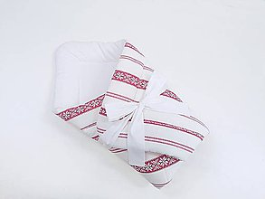Textil - Zavinovačka bielo-červená folk - 11463473_