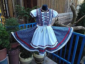 Iné oblečenie - Folklorny dievčenský kroj - 11464091_
