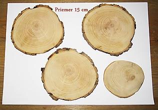 Iný materiál - Drevené veľké pláty - priemer 15 cm, sada 3 +1 - 11463886_