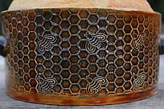 Nádoby - Forma na pečenie chleba - medová okrúhla - mini :) - 11463930_