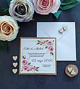 Papiernictvo - Svadobné oznámenie SĽUB A - 11464505_