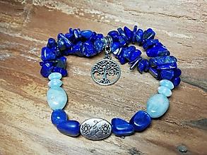Náramky - Náramok strom života s lapisom lazuli - 11463740_