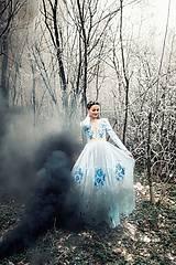 Šaty - Svetlo modré šaty Poľana - 11465404_