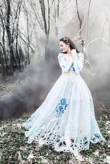 Šaty - Svetlo modré šaty Poľana - 11465405_