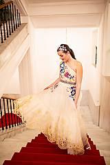 Šaty - Béžové šaty Poľana - 11465539_