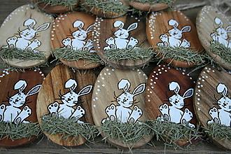 """Dekorácie - veľkonočná dekorácia na zavesenie """"zajko"""" - 11464642_"""