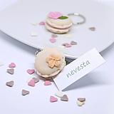 Darčeky pre svadobčanov - Svadobné makrónky zdobené - darčeky pre hostí/menovky - 11464906_
