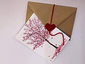 Papiernictvo - Pohľadnica Strom za/ľúbených - 11465510_