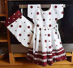 Úžitkový textil - Zásterka na rúru + chňapka - 11465368_