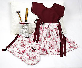 Úžitkový textil - Zásterka na rúru + chňapka - 11465447_