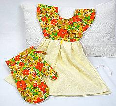 Úžitkový textil - Zásterka na rúru + chňapka - 11465483_